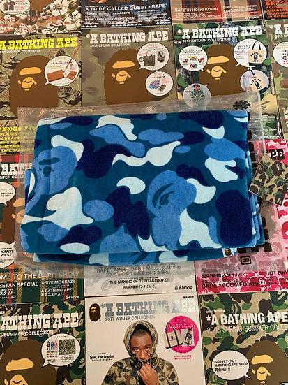 BAPE ABC BLUE CAMO TOWEL
