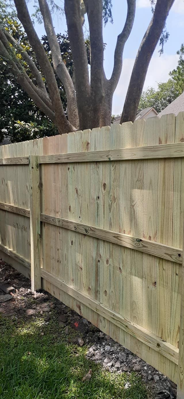 """<img src=""""pressuretreatedfence.gif"""" alt=""""Building a pressure treated pine fence in Fort Bend County"""">"""