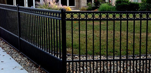"""p<img src=""""wrought iron fence.png"""" alt=""""wrought iron fence in Houston with puppy pickets"""">"""