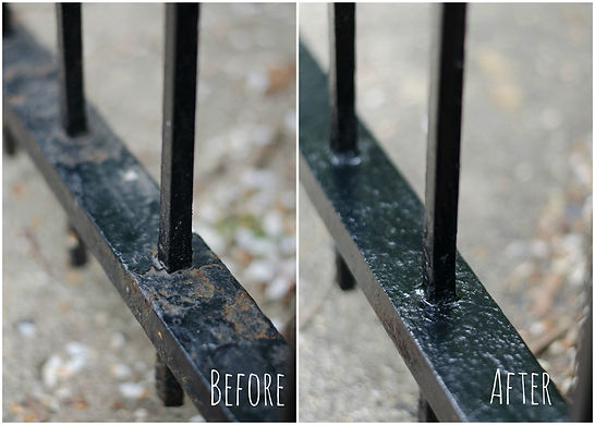 """<img src=""""iron fence repair.png"""" alt=""""before and after wrought iron fence repair"""">"""