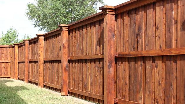 "<img src=""WoodFence.jpeg"" alt=""Building western red cedar fence for Richmond TX homeowner"">"