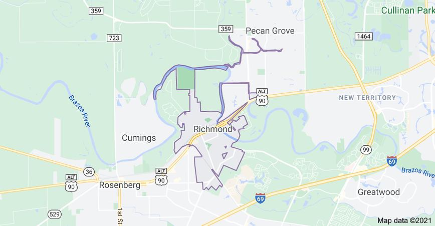 """<img src=""""RichmondTXservicemap.jpg"""" alt=""""map of where we build wood fencesbuilding wood fences in Richmond"""">"""