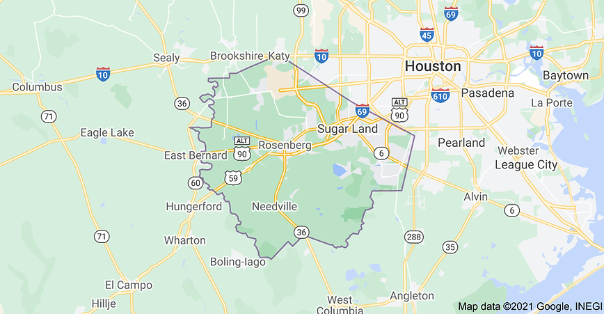 """<img src=""""FortBendServiceAreaMap.jpeg"""" alt=""""Service area map for fence installation and repairs in Fort Bend County, Texas"""">"""