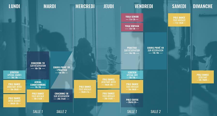 planning empowerment pole dance studio 92 rueil malmaison hauts de seine ile de france paris