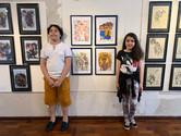 artista Miguel Melo e sua amiga