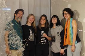 equipe da Galeria Experimental, prof. Guilherme Reichwald, Ana Wolf, Flávia Fraga, Luiza Bica e Gabriela Ventura