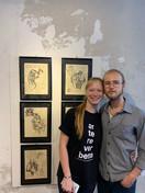 artista Samuel Wolf e sua irmã Ana Wolf