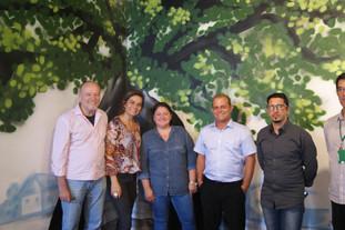 docentes do IFSul Câmpus Sapucaia do Sul presentes na exposição