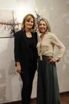 gestora da Galeria, Stefanie Moreira, e artista Silvia Rodrigues