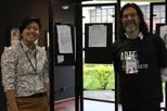 artista Yukari Takeda e professor Guilherme Reichwald