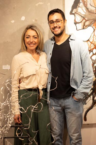 artista Silvia Rodrigues e seu sobrinho Henrique Sommer