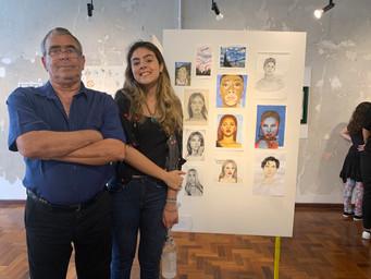 artista Tuanne Gularte e seu avô