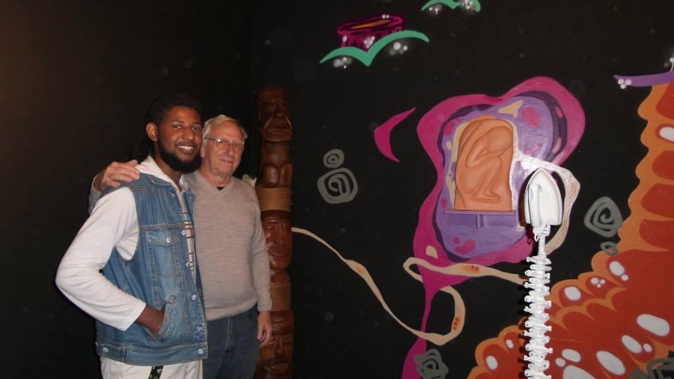 artistas Fábios Eros e Moacir Becker