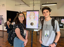 jovens artistas Giovana Bombardelli e Gustavo Cardoso