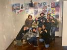 equipe de produção da Galeria Experimental e artista Marcos Coelho