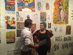 diretor do Câmpus Mack Léo Pedroso e artista da exposição Isadora Brandelli