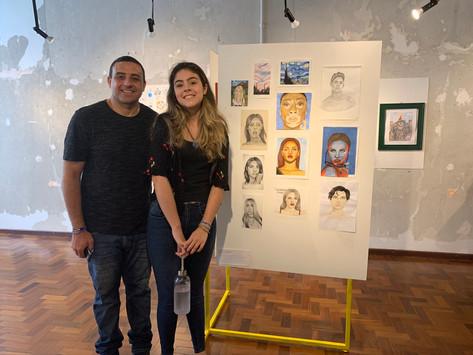 artista Tuanne Gularte e seu pai