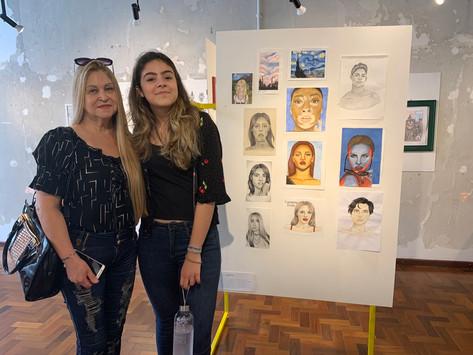 artista Tuanne Gularte e sua avó