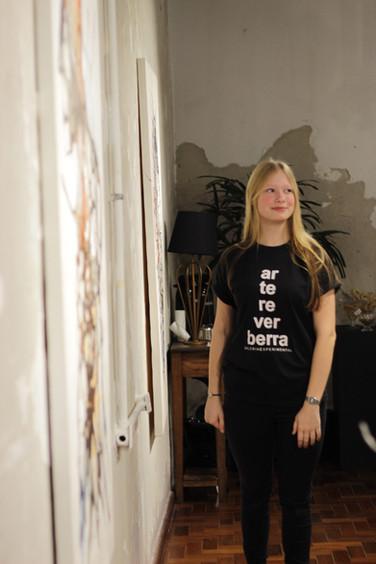 integrante da equipe da Galeria, Ana Wolf