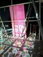 montagem da estrutura da exposição