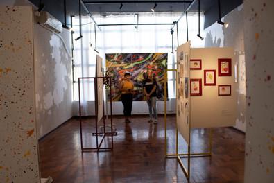 integrantes da equipe da Galeria Experimental, Maria dos Anjos e Ana Wolf. Foto: Eduarda Peres