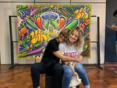 coordenadora do IV Encontro, Stefanie Moreira, e sua filha, Victoria Kern