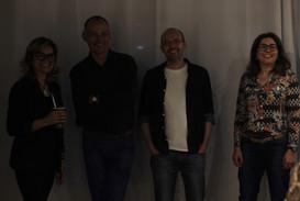 professoras e professores do IFSul Sapucaia, Stefanie Moreira, Antonio Genz, Evandro Godoy e Fernanda Guedes