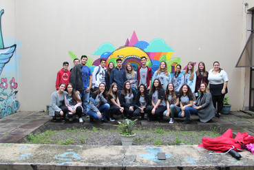 visita da Escola Estadual de Ensino Fundamental Santa Rita de Cássia, Sapucaia do Sul/RS