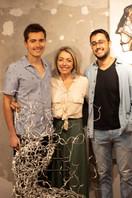 artista Silvia Rodrigues, seu filho Heitor Rodrigues e seu sobrinho Henrique Sommer