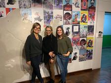 artista plástica de Esteio/RS, Silvia Rodrigues, Stefanie Moreira e Flávia Fraga