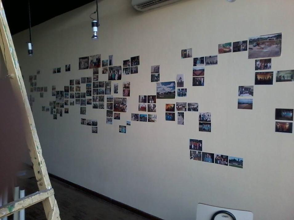 montagem da exposição