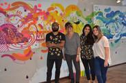 da esquerda para direita: Marcelo Pax, Stefanie Moreira, Mirella Queiroz e Flávia Fraga