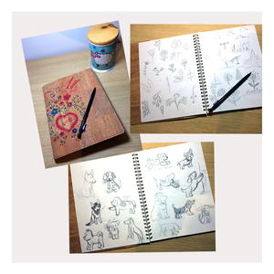 Sketches of dogs and nature for a children's book