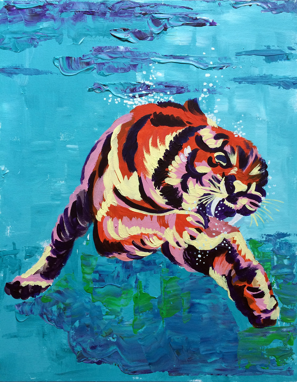 Acrylic Tiger – Finished picture