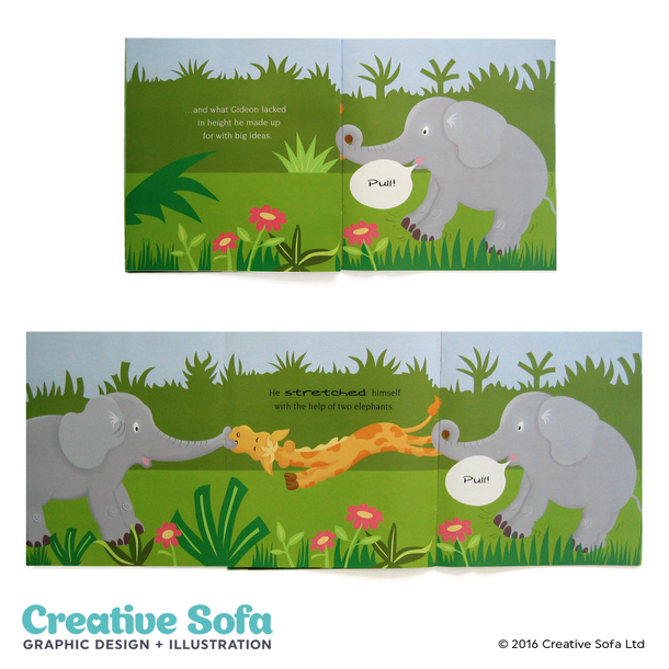Elephants Children's Book Spread