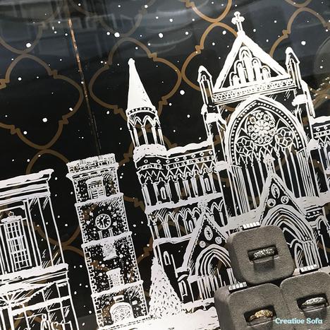 Kingshill Jewellery's christmas window display