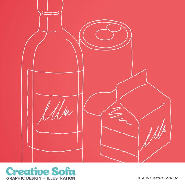 Packaging Illustration for an IGD Brochure