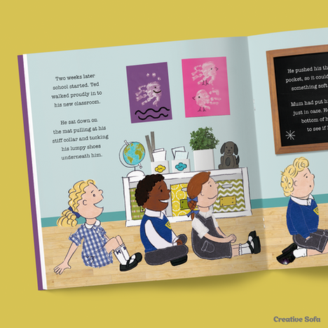 Book Design & Illustration for 'Thumbs Up for Ted's Thumbsie'