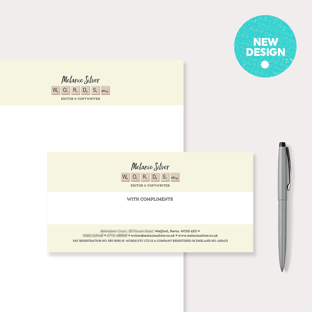 New Stationery Design – Melanie Silver Copy Writer