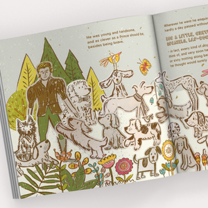 'Troop of Dogs' Children's Book Design Close Up