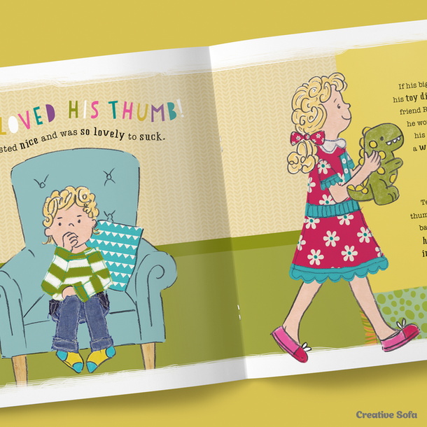 'Thumbs Up for Ted's Thumbsie' Book Design & Illustration