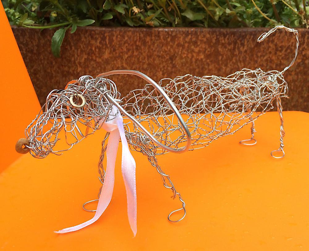Wire Sculpture Dog
