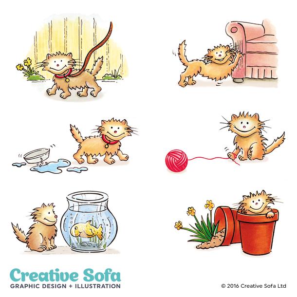 Naughty Kittens for Spillers Leaflet