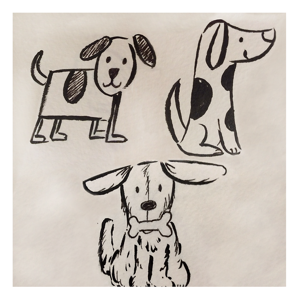 Fun dog sketches in different poses