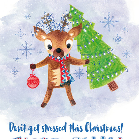 'Just Chill' – Cute illustration for 'The Big Draw' Christmas Card Competition