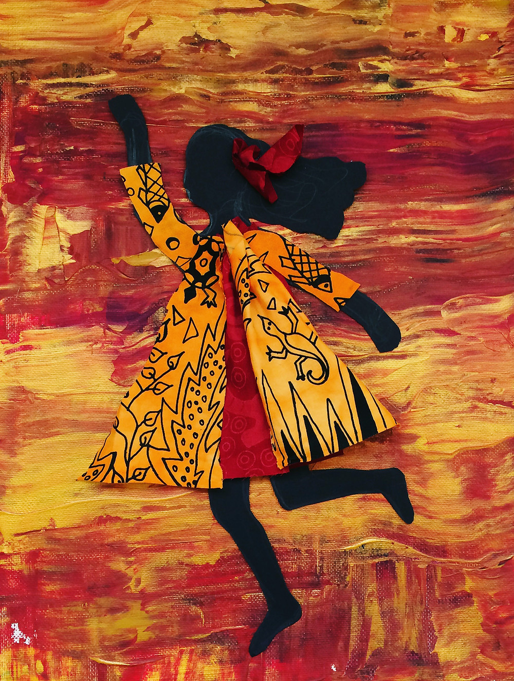 Silhouette and Fabric Art