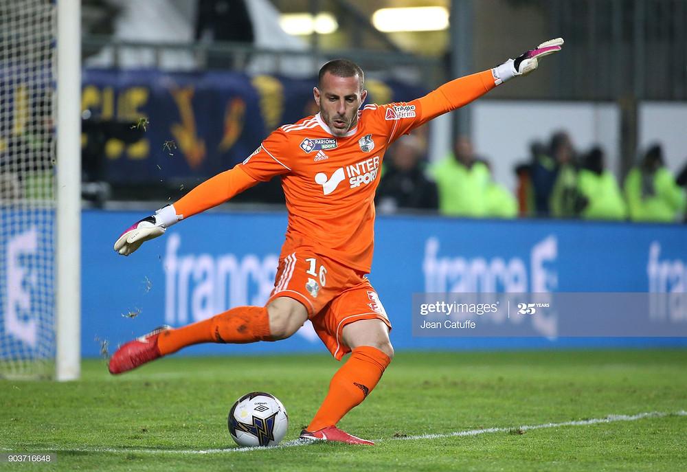 Jean-Christophe Bouet sous le maillot d'Amiens - janvier 2018 - Getty Images