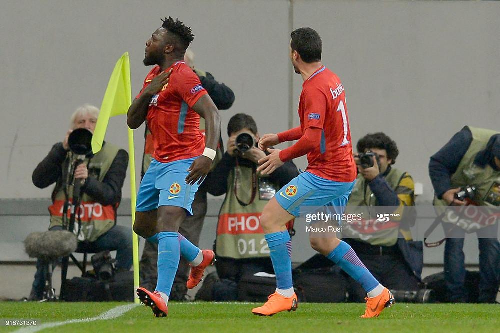 Harlem Gnohéré en Ligue Europa avec le Steaua - Getty Images