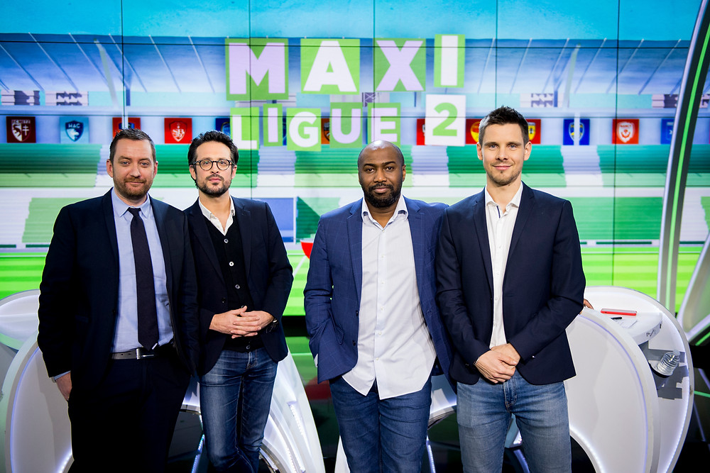 Robert dans l'émission Maxi Ligue 2 présentée par François Rabiller tous les mardis (PANORAMIC)