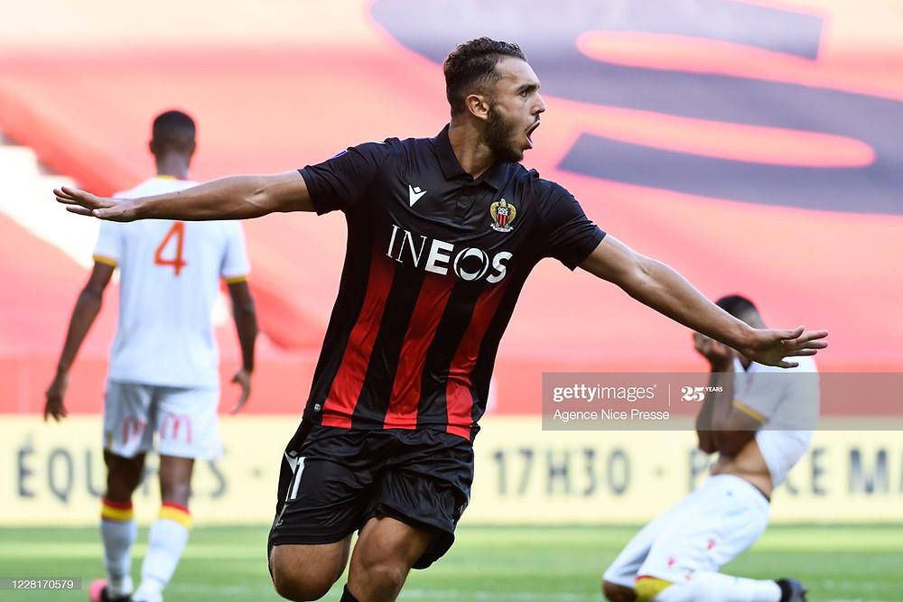 Amine Gouiri a porté un Nice peu inspiré vers la victoire (Getty Images)